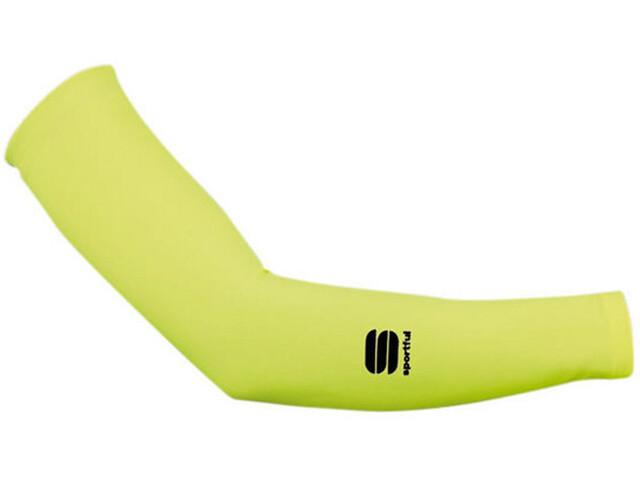 Sportful Lycra Arm Warmers yellow fluo
